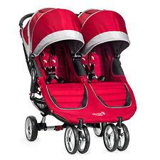 Baby Jogger 2016 City Mini Double Stroller - Crimson/Grey - New! Free Shipping!