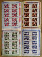 10 x Bund Nr. 1968 - 1971 postfrisch KB Kleinbogen Satz 1998 BRD Motiv Sport