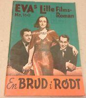 "The Bride Wore Red Joan Crawford 1938 Danish Movie Novel ""EVA Lille Film Roman"""