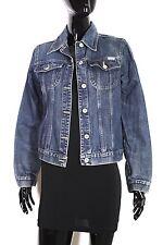 T6-2  s. Oliver Damen Jeans Jacke Denim Trucker Jacket Gr. S blau Used Look