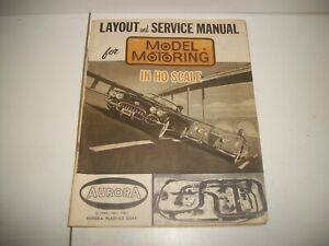 1960-61-62 AURORA LAYOUT & SERVICE MANUAL MODEL MOTORING