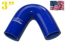 """4PLY Silicone 135 Degree Elbow Hose Pipe 76mm 3"""" Blue"""