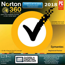 Norton 360 3 PC's  3 PC's / 2017 - 2018 - 1Year - License Activation Key