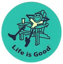 "NEW LIFE IS GOOD 4"" STICKER/DECAL...JAKE ADIRONDACK CHAIR TEAL BLUE!!"