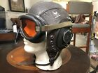 A-11 WWII Leather Pilots Flight Helmet Goggles Army Air Forces - Excellent 7 1/4