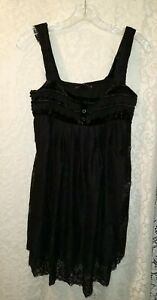 Upscale Black Velvet Hazel Size Large jumper  dress short