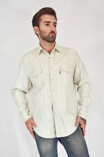Levi's Camisa en Blanco Denim de Algodón Algodon Con Logo Estilo Talla L Hombre
