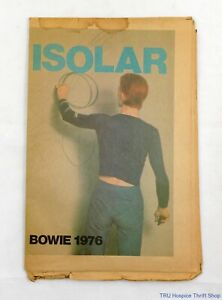 Vintage David Bowie 1976 ISOLAR Concert Tour Photo Spread Newspaper