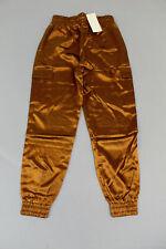 Vera & Lucy Women's Satin Pocket Cargo Pants SV3 Camel Small NWT