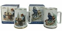 Lot Of 2 Norman Rockwell Week 2/3 Seafarers Collection Porcelain Tankards W/ Box