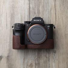 Nuevo caso de cámara cuero genuino Media Bolsa Hecho a mano Para SONY A9 A7 III A7 Mark III