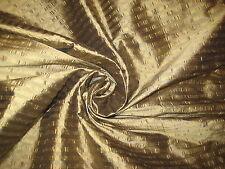 "Bronze Horizontal Stripe 100% Silk Fabric 48"" Wide Sold By The Yard"