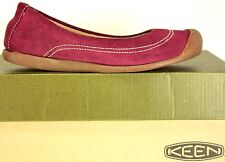 KEEN Womens Ballerina size 6 M Sangria Suede Leather Flats Shoes ML 8