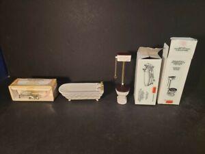 Dollhouse Reevesline Miniature Reeves Bath Tub Toilet Kitchen Sink 1:10 Scale