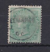 BC605a) East India 1865 4a green SG64 fine used, catalogue £40, price $55
