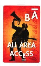 Bryan Adams 1991 Waking Up The World Tour Laminate Backstage Pass Unused Red