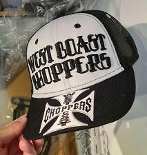 Casquette WCC West Coast Choppers Croix blanche & Noire