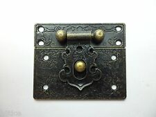 Pair of bronze Color box Catch,small box hardware,box hasp latches,55mm x 47mm