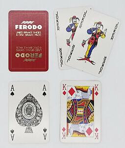 VINTAGE PLAYING CARDS, FERODO BRAKE SHOES & PADS, WADDINGTON, 52+2J, PLASTIC BOX