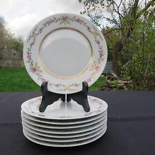 RAYNAUD LIMOGES 8 assiettes à dessert Ø 19 cm  en porcelaine décor vieux Venise