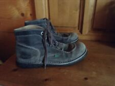 Bottines Kickers Cuir gris  .T 38 .(SBO38/J/GO)