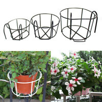 Iron Flower Pot Hanging Balcony Garden Plant Planter Home Decor Basket Holder