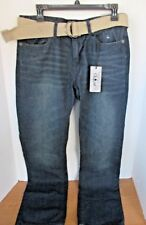 RAW DIAMOND~Dark Wash DENIM BLUE JEANS w/ BELT~Men's 32 x 32~NWT