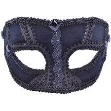 Male Black Velvet Masquerade Mask 50 Shades Style Fancy Dress Prop