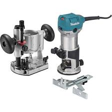 Compact Router Kit Makita Durable HP Powerful Motor Heavy-Duty Aluminum Corded