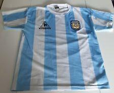 Maillot de football Argentine Diego Maradona 10 Taille S Le Coq Sportif 1986