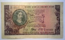 BRT Rare 1953 South African 10 Pound Note F