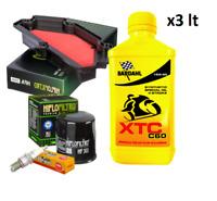 KIT TAGLIANDO BARDAHL XTC 15W50 FILTRO OLIO ARIA CANDELE ER-6F 650 2013/2016