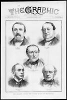 1872 Antique Print Portraits - Count Sclopis Staempfly Cockburn Adams   (161)