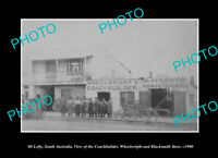 OLD LARGE HISTORIC PHOTO MOUNT LOFTY SOUTH AUSTRALIA THE BLACKSMITHS c1900