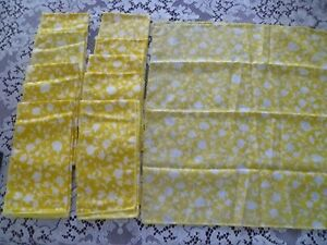 Cloth Napkins 10 Yellow Floral 17 x 17 inch