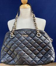 Kate Spade Gold Coast Maryanne Quilted Shoulder Bag Purse Black Leather