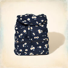 NWT Hollister Floral Backpack Navy and white