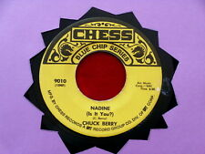 CHUCK BERRY~ NADINE~ ROLL OVER BEETHOVEN~ BLUE CHIP SERIES~ RARE~ CHESS ~ R&B 45
