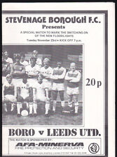 1982/83 STEVENAGE BOROUGH V LEEDS UNITED 23-11-1982 Special Floodlight Opening