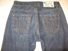 MEK Denim Jeans Mens Bali Straight Leg Distressed Wash Sz 33 x 34   NICE !!