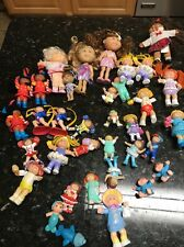 LOT OF 35 ASSORTED Vtg 3 Small Dolls CABBAGE PATCH KIDS MINI PVC FIGURINES