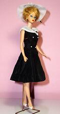 Vintage 1962 Bubble Cut Barbie,blonde hair original outfit #934  white mules Exc