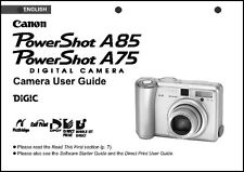 Canon Powershot A75  A85 Digital Camera User Guide Instruction  Manual