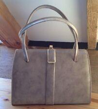 Vintage Cream Frame Handbag/Leather Lk/Unusual/Grace Kelly/1950's/60's/Retro