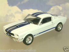 PARTWORK DIECAST 1/43 1965-6 FORD SHELBY MUSTANG 350GT 350 GT WHITE/BLUE STRIPES