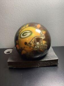 Bowling Ball Brunswick Viz-A-Ball RARE 2006 Helmet NFL Green Bay Packers