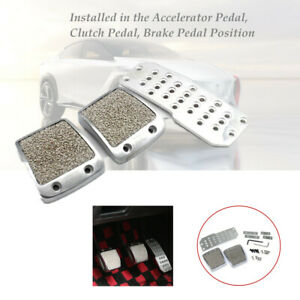 Aluminum cool look Car Foot Pedals Pad Clutch Brake Non-Slip Manual Footst Cover