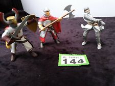 Papo 3x Figures: Soldier's warriors swordsman, Axeman. 1999, 2000, 2002