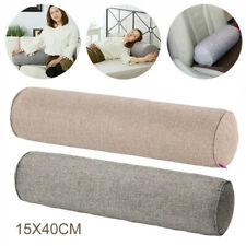 Round Orthopaedic Bolster Pillow Cotton Linen Nursing Roll Neck Cushion Headrest