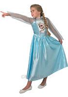Girls Disney FROZEN Elsa or Anna Princess Fancy Dress Costume Outfit 3-14 years